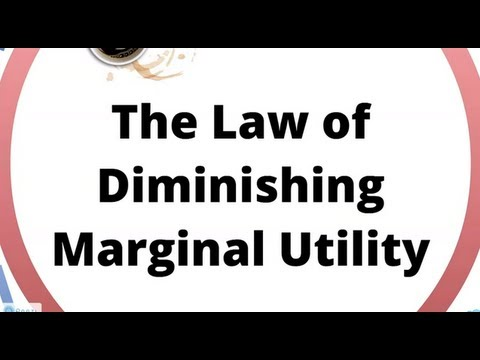 Diminishing Marginal Utility Explains Why