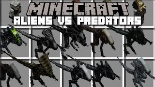 Minecraft ALIEN VS PREDATOR MOD / FIGHT BEATS WITH MARINES BY YOUR SIDE!! Minecraft