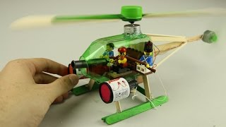 How to Make Electric Helicopter from plastic Bottles  hd