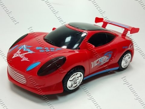 Toptan 3D ışıklı oyuncak araba müzikli pilli hareketli kaliteli sirenli