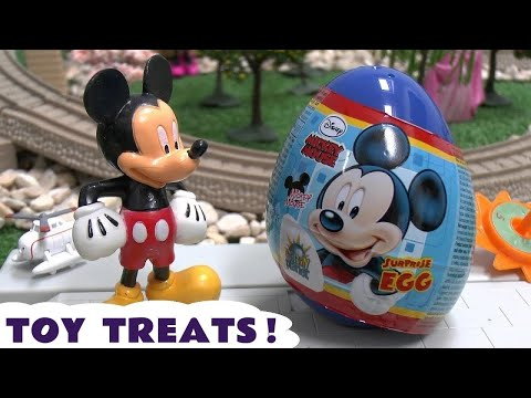 Disney Planes Thomas And Friends Mickey Mouse Surprise Eggs With Cars Toy Story And Sofia Toys video