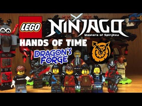 Lego NINJAGO Dragon´s Forge Set Review 70627 Hands of Time Minifigures Ray Maya