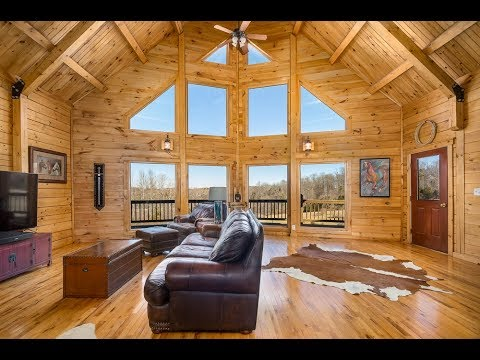 10348 Gravel Road, Brandy Station, VA - Contemporary Log Home For Sale on 26 Acres
