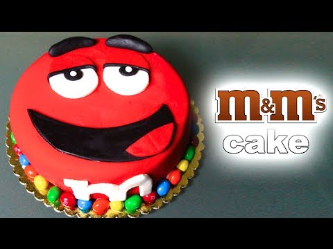 BIG RED M&M CAKE!