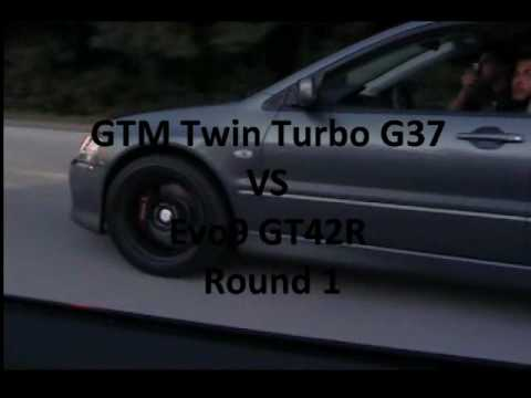 GTM Twin Turbo G37 & 370z, GT-R, GT42r Evo9