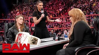 Download Lagu Ronda Rousey vows to take Nia Jax's arm and her title: Raw, May 21, 2018 Gratis STAFABAND