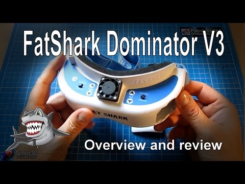 RC Reviews - FatShark Dominator V3 FPV Goggles and new 960TVL camera