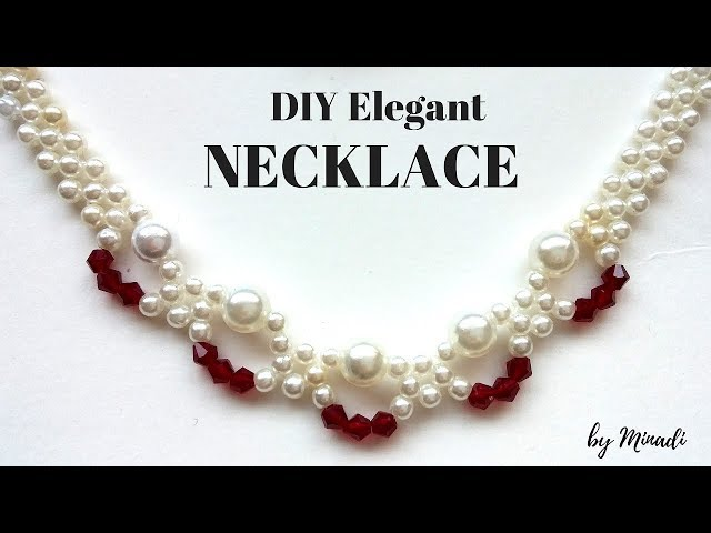 How to make a necklace with beads. Necklace tutorial for beginners.