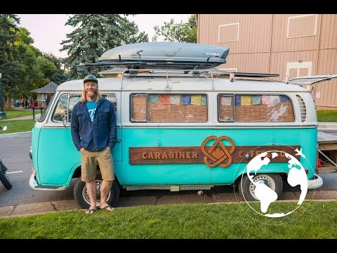 Man Lives and Sells Coffee out of his VW Bus