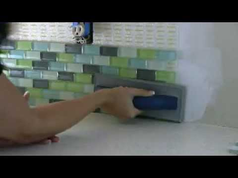 Tile Your Backsplash Using A Tile Setting Mat Youtube