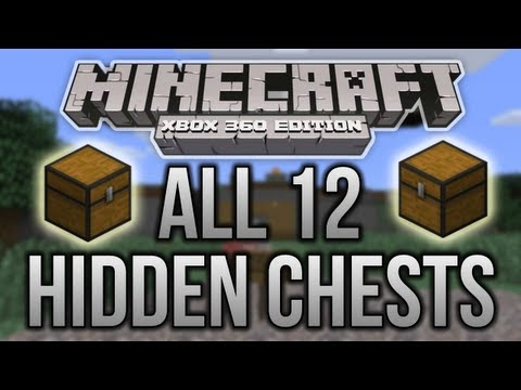 Minecraft (Xbox 360) - All 12 Hidden Chests - Tutorial World! - Walkthrough