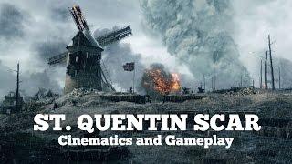 Battlefield 1 - St.  Quentin Scar Cinematics and Gameplay
