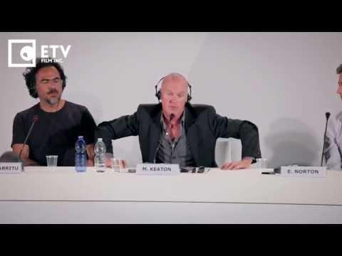 Michael Keaton on Batman, Birdman Press Conference (2014 Venice Film Festival)