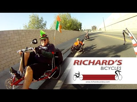 Richard's Bicycles Saturday Ride - Lots of Recumbent Trikes