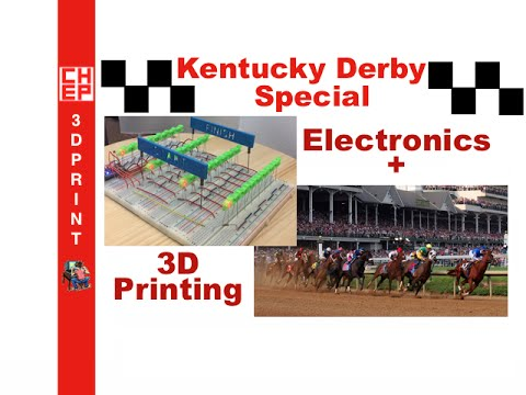 Kentucky Derby Special - Electronics and 3D Printed Horse Race Game