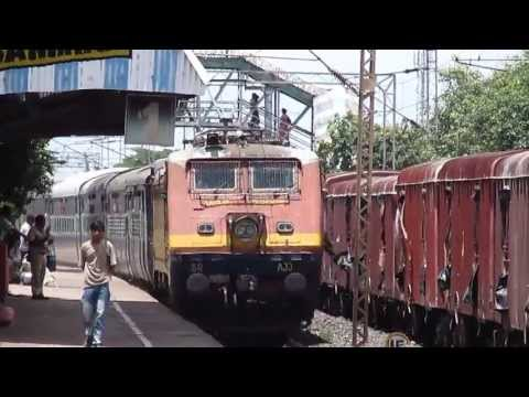 Date taken: July, 2013. Time: 12:15 hrs. Bang on time running 18645 Up Howrah Jn-Hyderabad Deccan East Coast Express gains speed with offlink Arakkonam WAP-1...