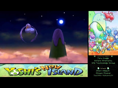 Yoshi's New Island 100% Walkthrough - World 6-8 Final Boss + Ending and Credits