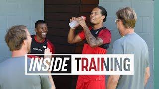 Inside Training: Van Djik & Wijnaldum cheered on by Klopp   Gruelling lactate test