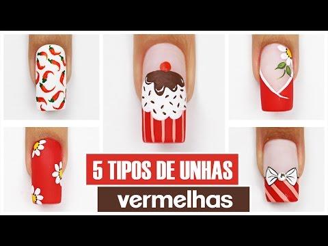 5 Unhas Vermelhas Fáceis de Fazer | Cola na Villar thumbnail