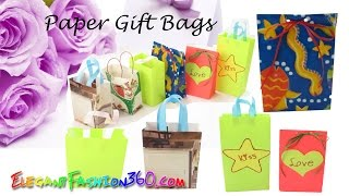 DIY Paper Craft: Paper Gift Bags/Goody Bags super easy - How to
