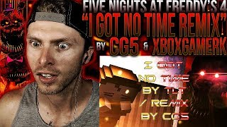 "Vapor Reacts #440 | *NEW* FNAF 4 SONG REMIX ""I Got No Time"" Animation by XboxGamerK ft. CG5 REACTION"