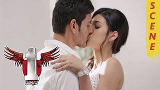 Kriti Sanon Deep Lip Lock : Mahesh Babu And Kriti Sanon Romantic Kissing Scene - 1 Nenokkadine