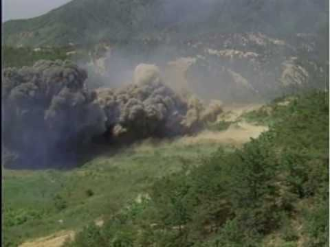 M58 Mine Clearing Line Charge (MICLIC) - Live Fire -  Rodriguez Range South Korea - Huge Explosion