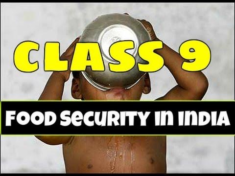 Food Security in India Class 9 Summary in Hindi