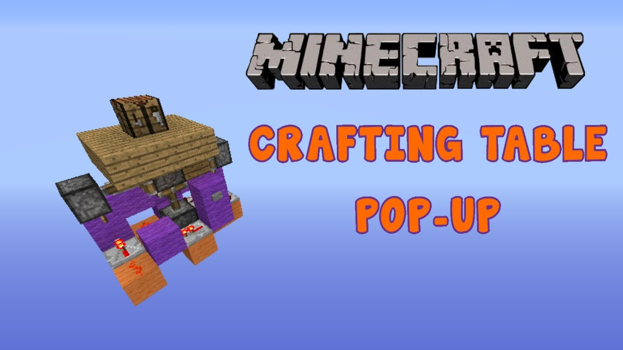 Minecraft hidden crafting table pop up how to youtube for How to draw a crafting table