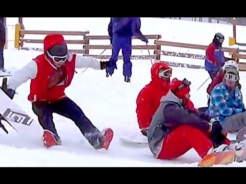 Snowboarders Falling In Front Of People!