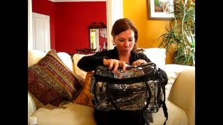 The Clear Bag Store Clear Computer Laptop Shoulder Bags