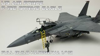 FULL VIDEO BUILD 1/48 F-15 Strike Eagle Hasegawa