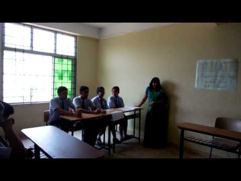 Debate on illegal poaching of one horned rhino by students of GEMS NPS Guwahati.