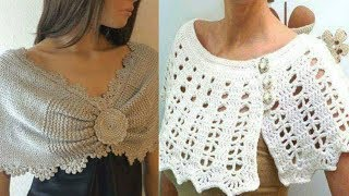Stylish Winter Woollen shrug  and poncho design for girls || winter wear 2019 || Trendy India