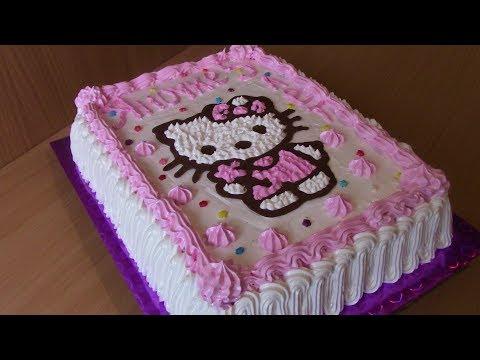 Торт Хелло Китти Hello Kitty Кремовый торт для детей Cake Hello Kitty