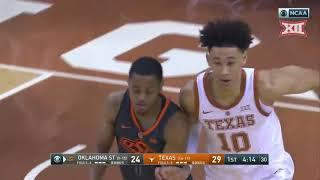 Oklahoma State vs Texas Men's Basketball Highlights