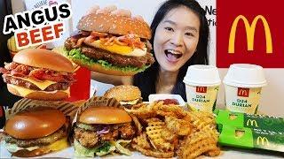 MCDONALD'S GOURMET BURGERS!! Rendang Angus Beef, Chilli Cheese & Buttermilk Crispy Chicken   Mukbang