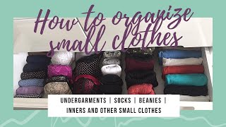 4 different & useful ways to store undergarments, socks, beanies, inners and other small clothes