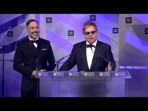 Elton John & David Furnish Recieve the HRC Equality Award