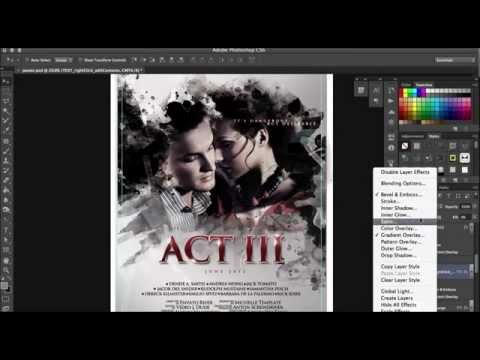 Film Poster Template Design   Photoshop Tutorial   Scarab13