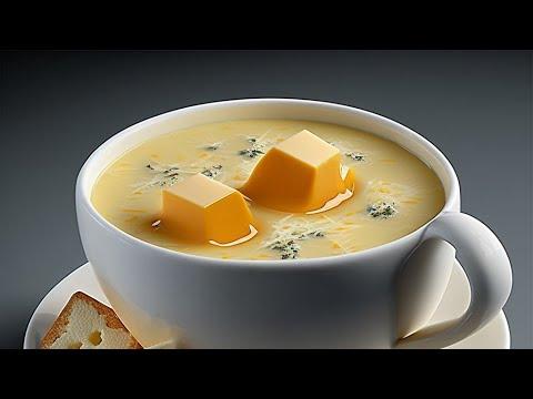 Лекгий рецепт сырного супа, из настоящего сыра !