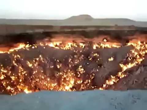 La porte de l 39 enfer br le depuis plus de 40 ans au turkm nistan youtube - Les portes de l enfer turkmenistan ...