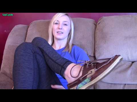 Upcycle: update on Brittney's repaired Sperry Topsider boat shoes