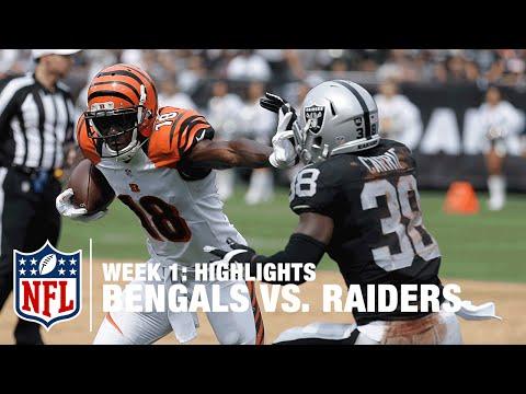 Bengals Vs Raiders Week 1 Highlights Nfl