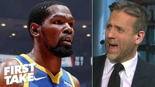 The Warriors failed to save KD from himself by letting him play Game 5 - Max Kellerman | First Take