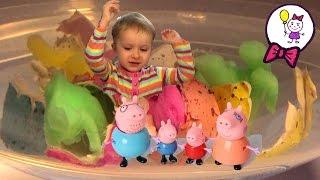 Свинка Пеппа Мультик с игрушками Джордж провалился