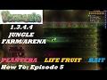 Terraria 1.3.4.4 HOW TO | Build a HOME Jungle Farm | Plantera, Life Fruits, Bait + MORE | Episode 5