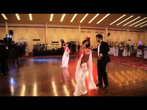 Wedding Dance - Saree Ke Fall Sa Dance  - Ramesha & Seesara...