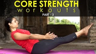 Yoga poses - Best ab workouts for core strength - Part 3