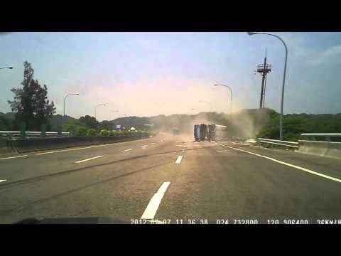 Bus lost control and rollover on highway